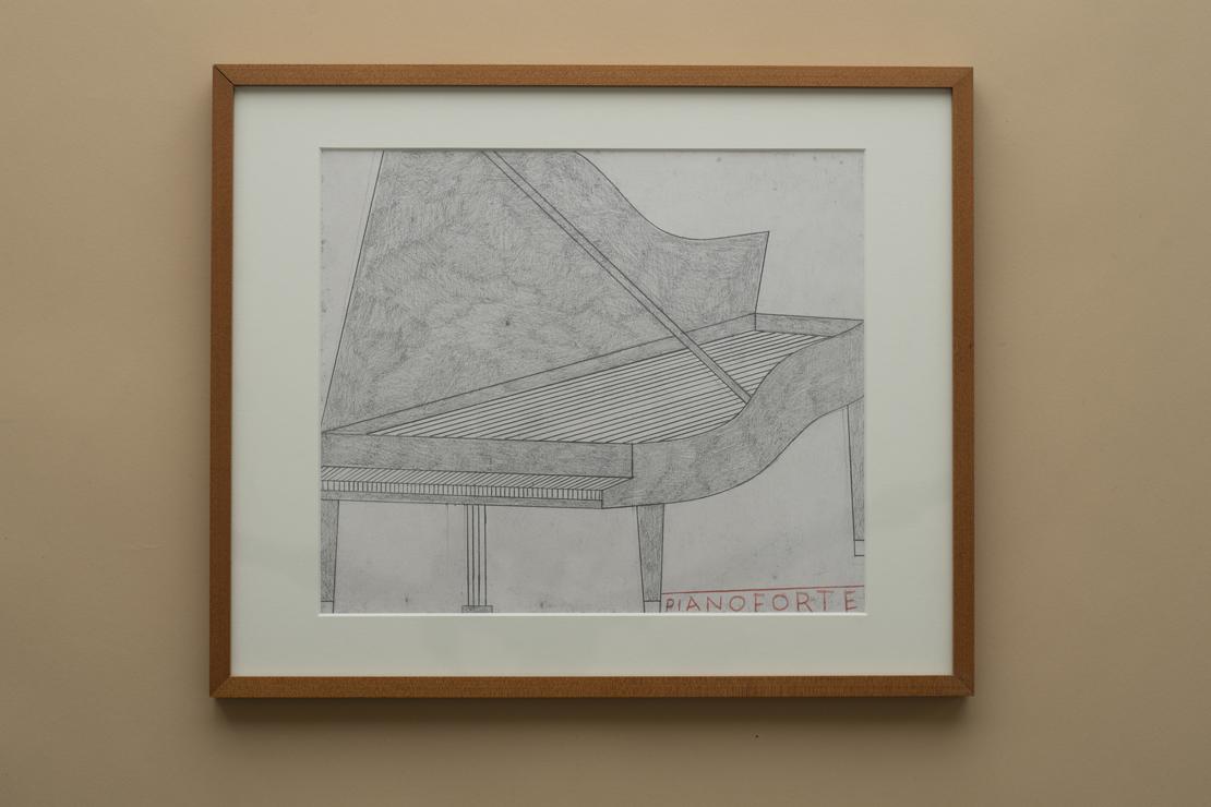 フィリップ・ワイズベッカーのピアノのドローイング
