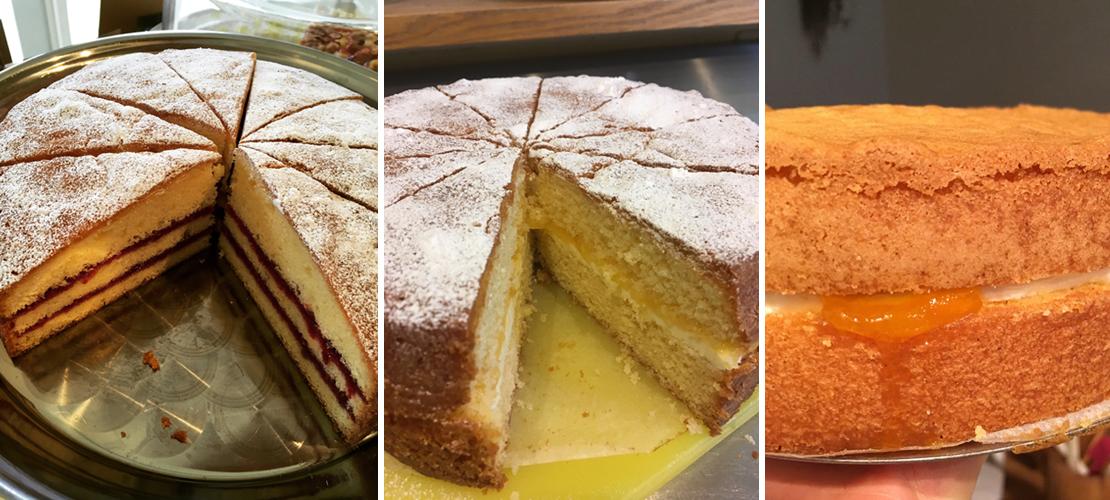 ビクトリア スポンジ ケーキいろいろ。