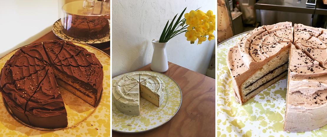 ビクトリア スポンジのクリーム ケーキ
