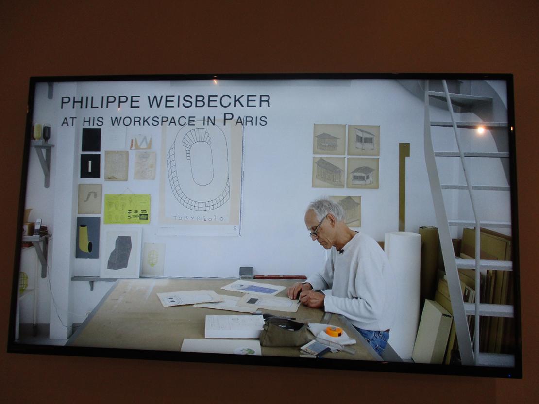 フィルム「ワイズベッカー のアトリエ PHILIPPE WEISBECKER AT HIS WORKSPACE IN PARIS」