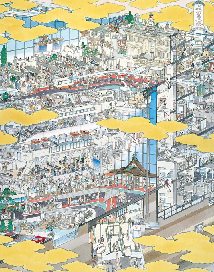 成田国際空港 南ウィング盛況の圖