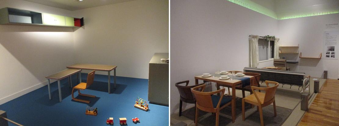 アルヴァ・アアルトのトゥルクの自宅兼事務所、最小限住宅展(1930)の小規模アパートのレイアウト写真
