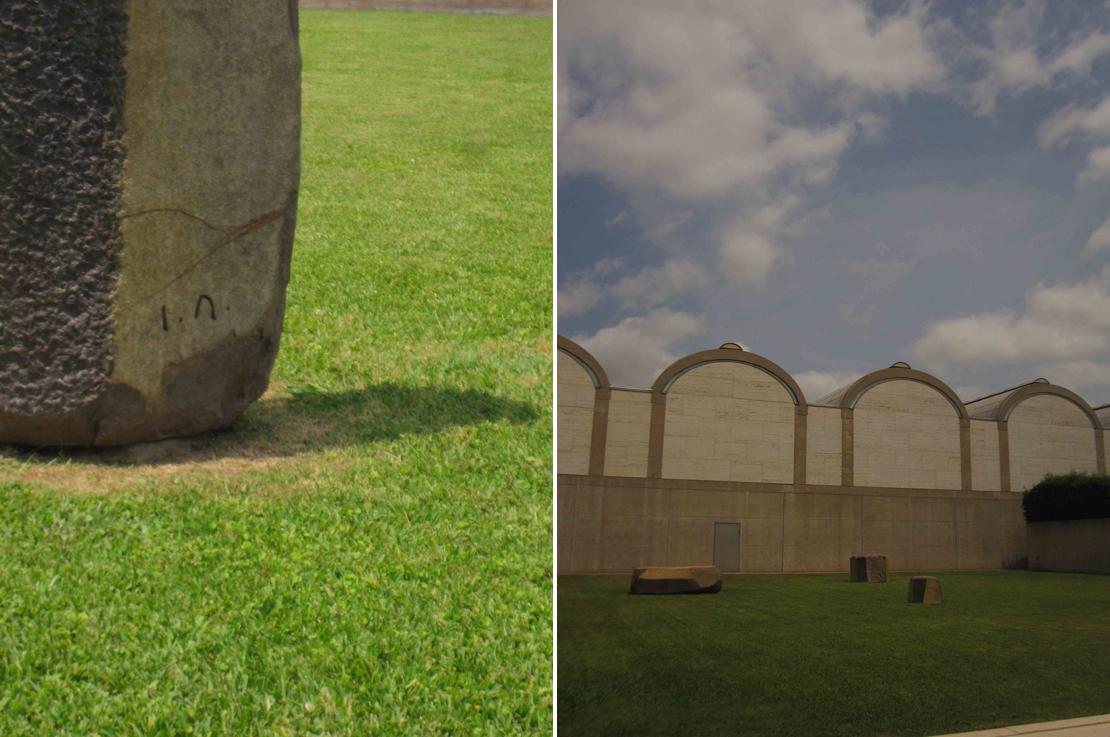 キンベル美術館 石壁サークル
