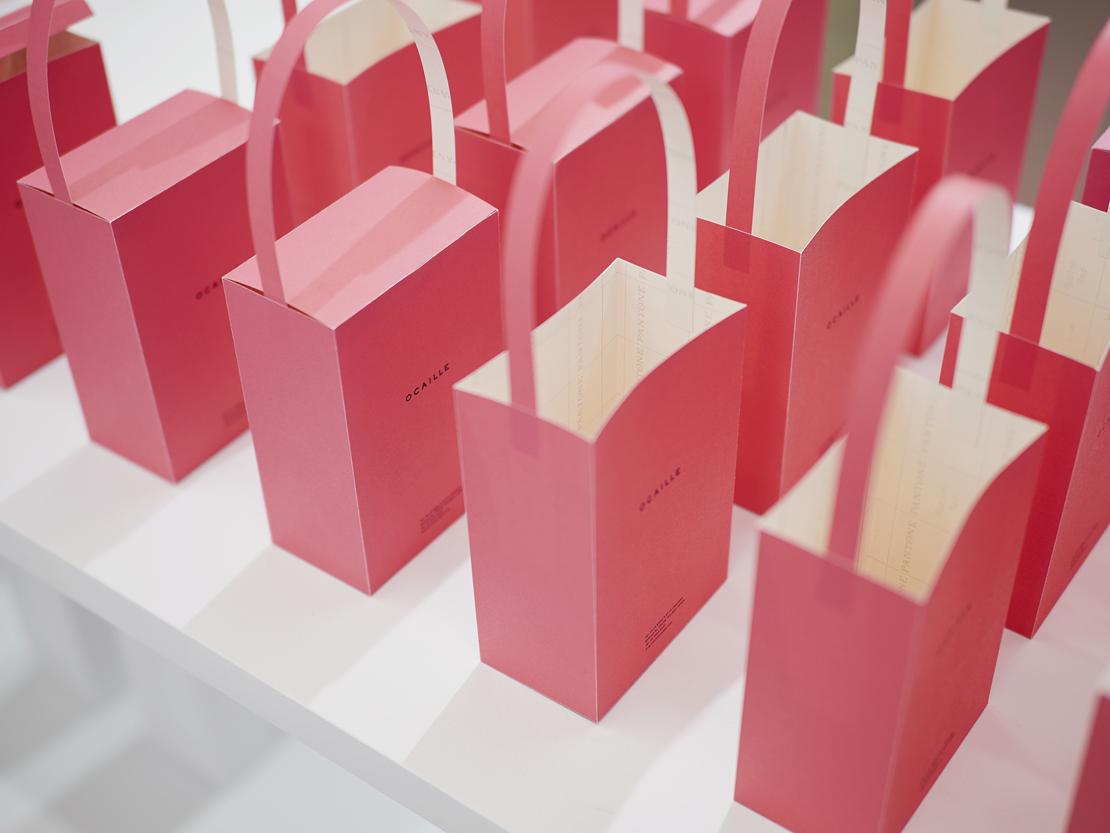 グラフィックデザイナー 井上庸子さんの「紙のバッグ PAPER BAGS」展