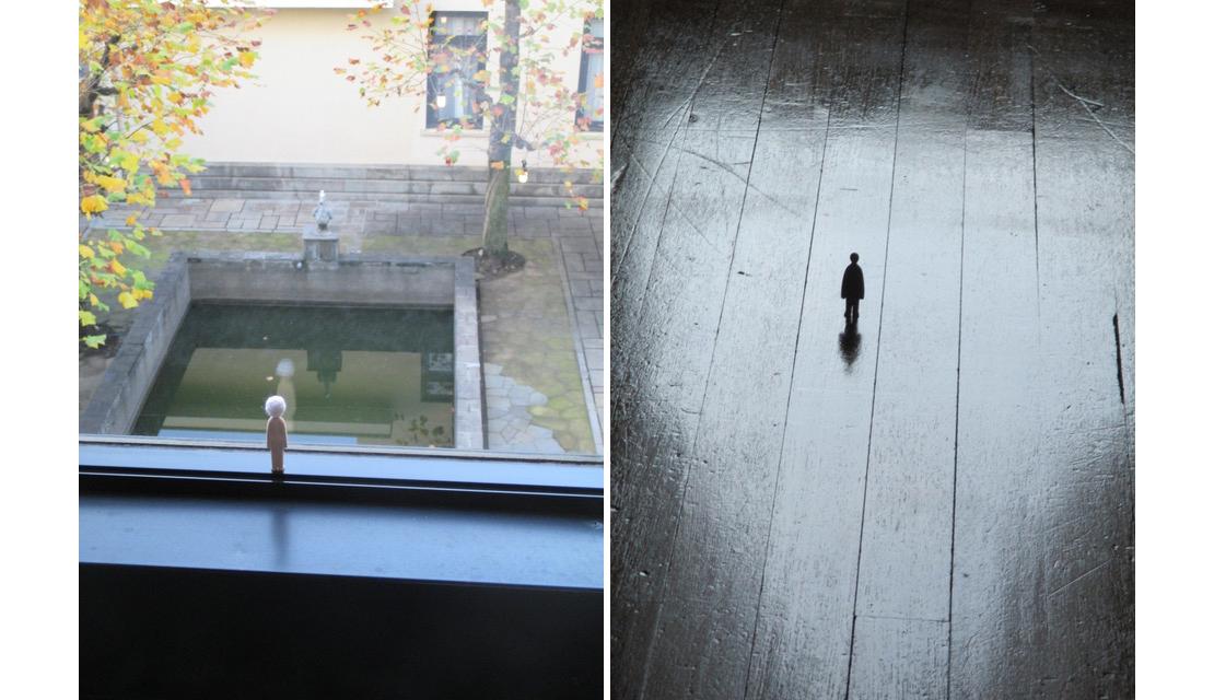 内藤礼「信の感情」の窓の外を眺める「ひと」
