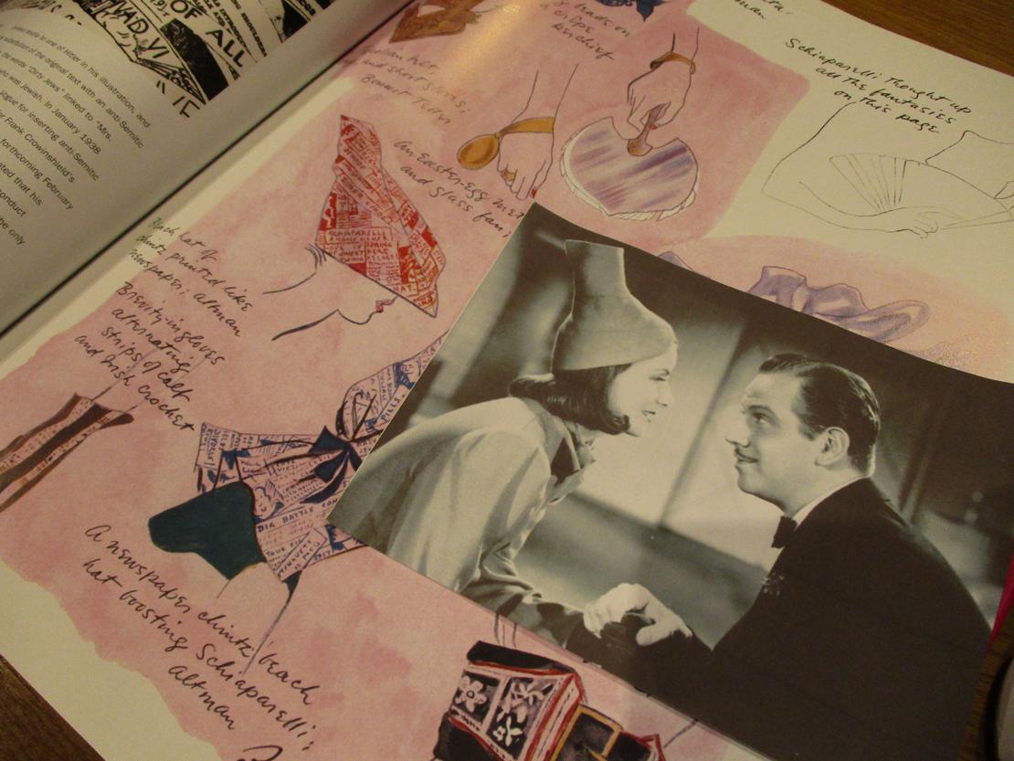 セシル・ビートンが1935年に描いたスキャパレリのアクセサリー