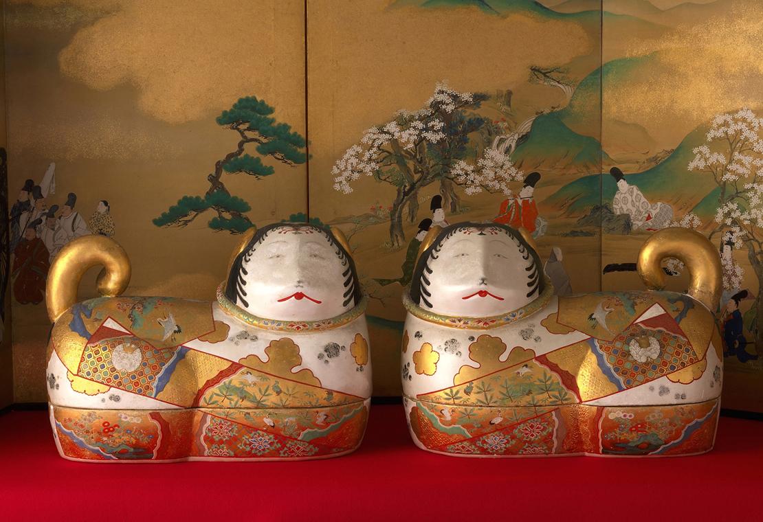 静嘉堂文庫美術館『岩崎家のお雛さま』展で展示されている「犬筥」