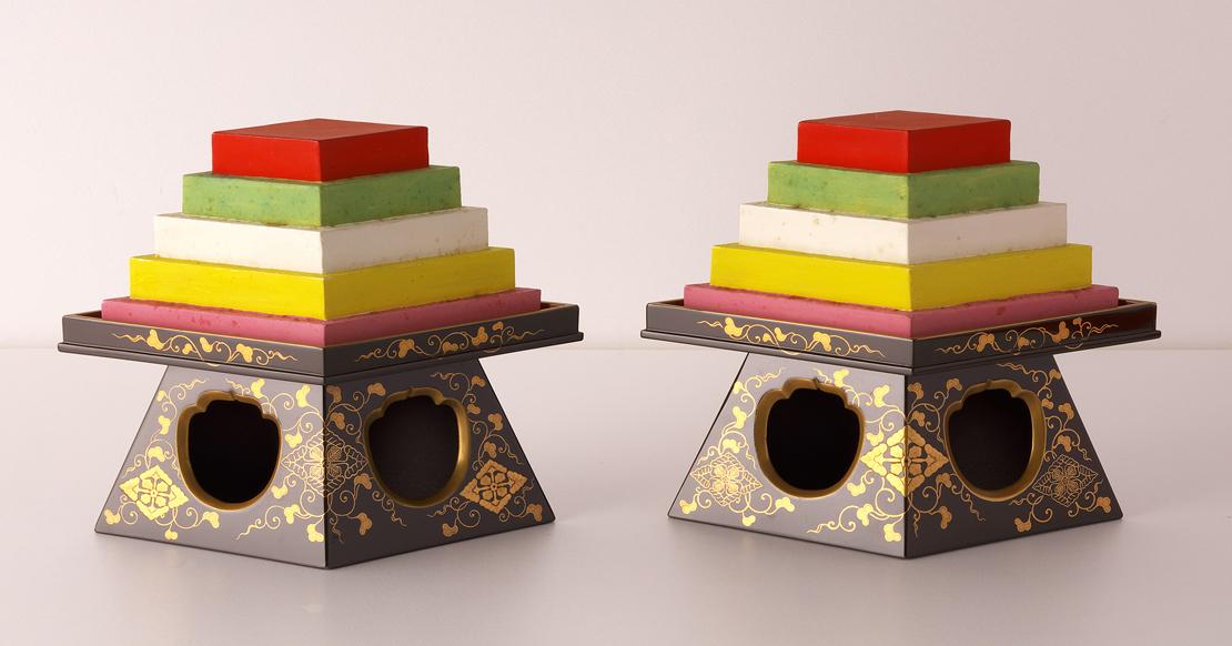 静嘉堂文庫美術館『岩崎家のお雛さま』展で展示されている「菱台」