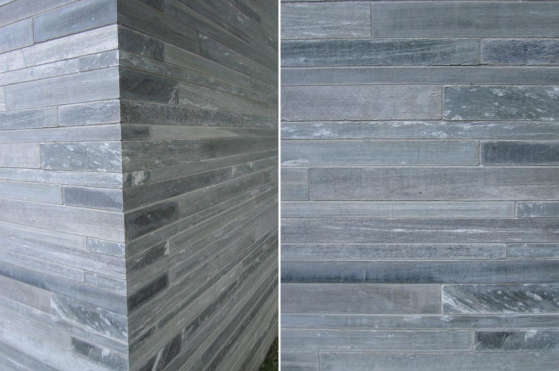ピーター・ズントーが設計したスパ施設「Therme Vals」の壁面