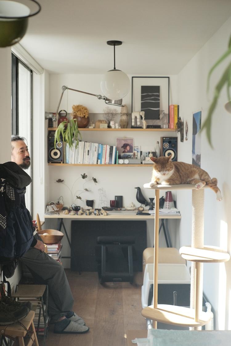 猫のあおちゃんと滝沢時雄さん