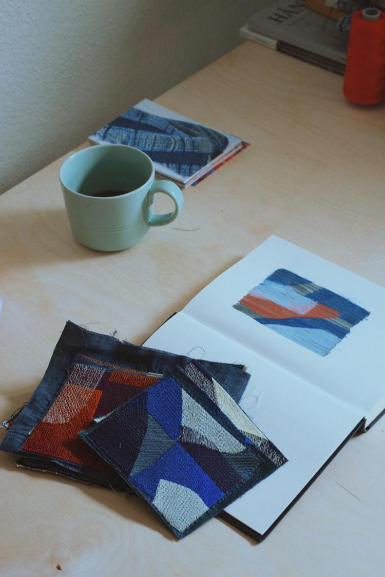 テキスタイルデザイナー・Emma Terweduwe(エマ・テルウェドウェ)さんのアトリエの風景