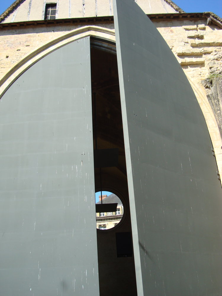 Sarlat の Marché Eglise Sainte-Marie の扉