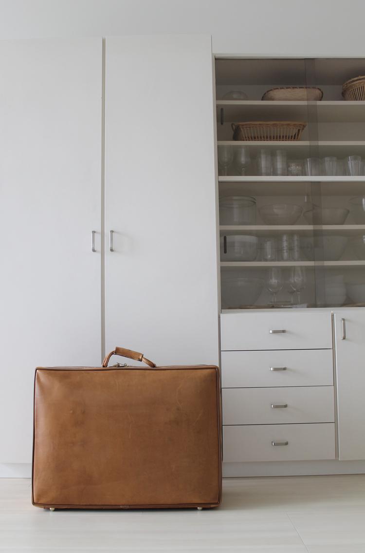 革製のスーツケース