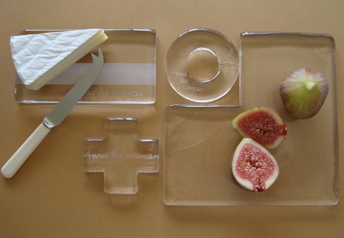 ガラス製品とイチジク
