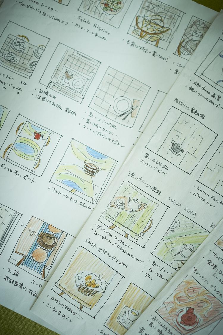 堀井和子さんが描いた絵コンテ