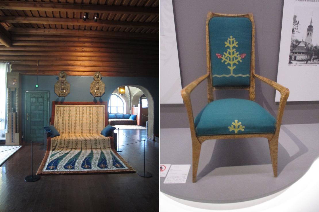 織物と椅子