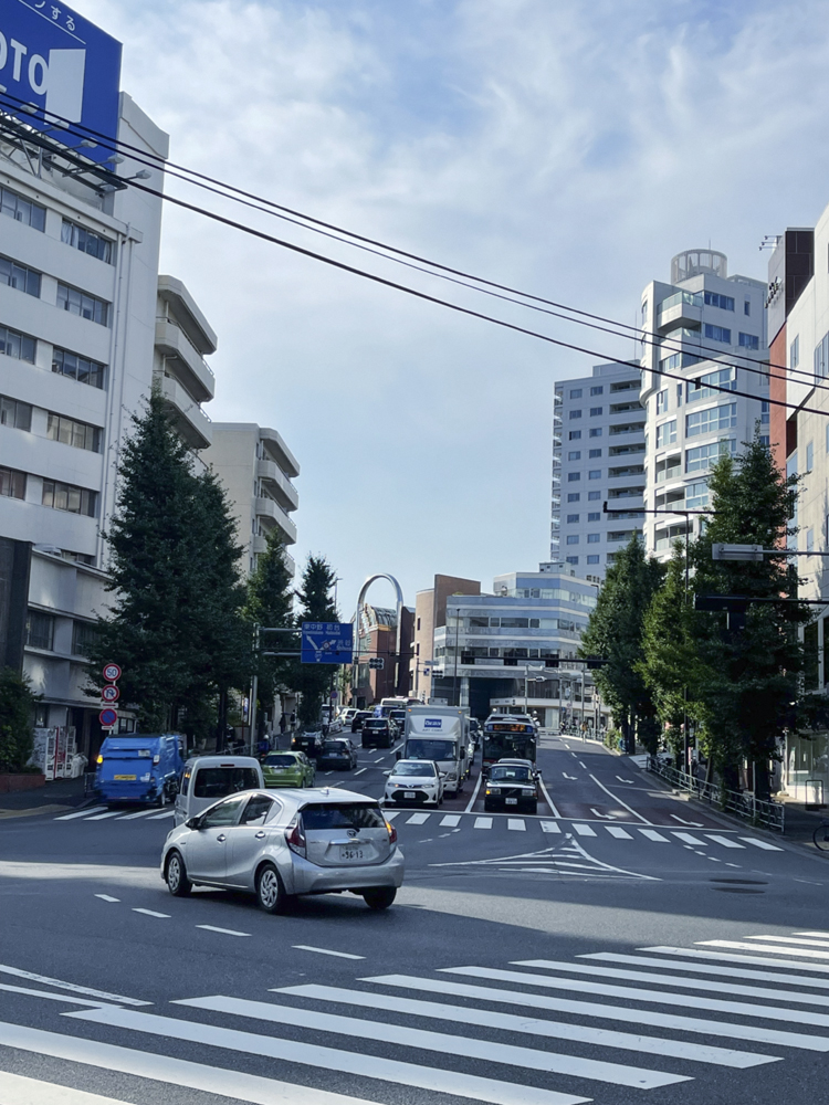 鎗ヶ崎交差点付近の風景