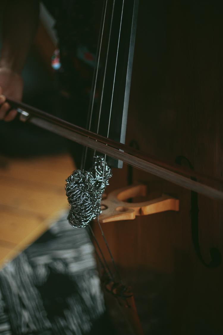 金たわしを使った音の実験